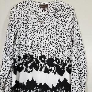 DANA  BUCHMAN blouse long sleeve Size Small